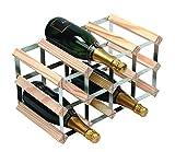 RTA 12 Bottle Traditional Wine Rack-Fully Assembled-Natural Pine (FSC)
