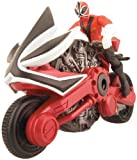 Power Rangers Samurai - Figura de disco (10 cm), color rojo