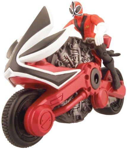 Power Rangers Samurai – Moto Samurai et Ranger Samurai Rouge - Figurine 10 cm