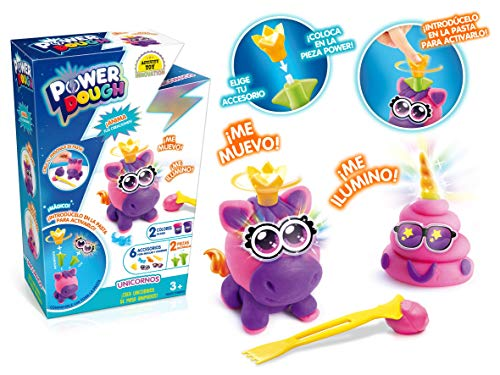 POWER DOUGH Unicornios, multicolor (Canal Toys Amazon ES1 DP018) , color/modelo surtido