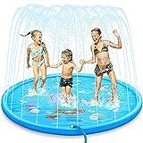 Dookey Splash Pad Sprinkler Play Matte Großes Sommer Garten Wasserspielmatte für Kinder...