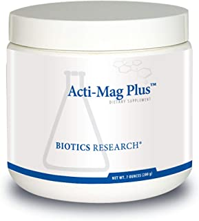 Biotics Research Acti-Mag Plus™ - Highly Bioavailable Powdered Magnesium Formula, 400mg Mg/Serving, Optimizes Stress Response, Promotes Relaxation, Healthy Energy Levels, Muscular Comfort 6.7 oz