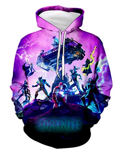 Fortnite Hoodies Youth Christmas Pullover Hooded Children Sweatshirts for Boys Girls Kids Youth L