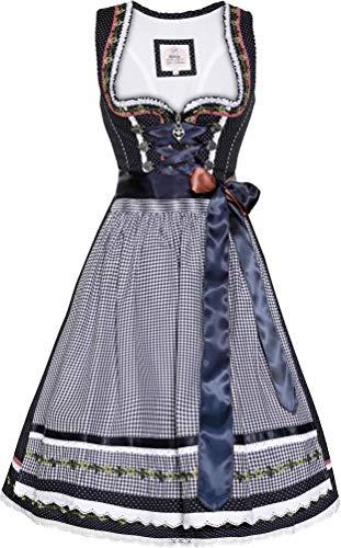 MarJo - Damen Trachten Dirndl, Merla (441955-020041), Größe:40, Farbe:blau (0141)