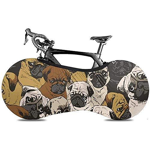 Bicycle Cover,Fundas De Bicicleta Perros De Dibujos Animados Divertidos Pug para Bicicletas De Montaña O Carretera