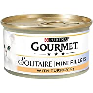 Gourmet Solitaire Tinned Cat Food with Turkey 85g (Pack of 12)