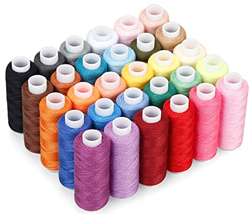 CiaraQ Sewing Threads Kits, 30 Colors Polyester 250 Yards Per Spools for Hand Sewing & Embroidery