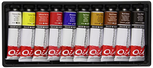 Daler Rowney - Confezione da 10 Colori a Olio Graduate, 38 ml