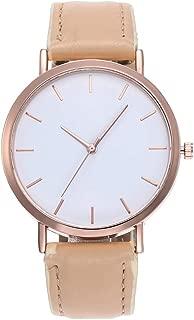 Fashion Quartz Glass Leather Watches High Quality Clock Wristwatch Ladies Watch (Khaki)