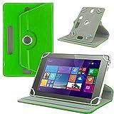 NAUC Tasche Hülle für ODYS Ieos Quad 10 Pro Schutzhülle Tablet Cover Hülle Bag Etui, Modellauswahl:Grün 360° mit Univ. Kameraausschnitt