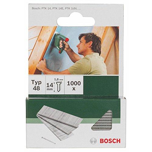 pequeño y compacto Bosch 2609255813 – Clavo tipo 48 (1000 piezas)