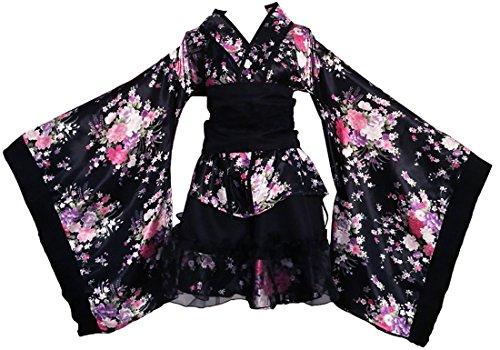 Vestido de albornoz Kimono de estilo japonés Anime Cosplay Verano de Japón Chicas lindas Cosplay de Anime Disfraces