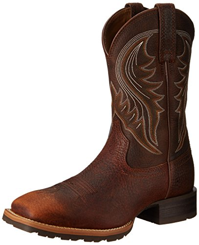 Ariat Men's Hybrid Rancher Western Boot, Brown Oiled Rowdy, 8 M US