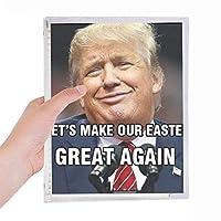 アメリカのばかなトランプ大統領のイメージ 硬質プラスチックルーズリーフノートノート