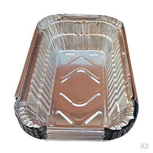 #N/A 20 Stück BBQ Aluminiumfolie Fett Auffangwannen