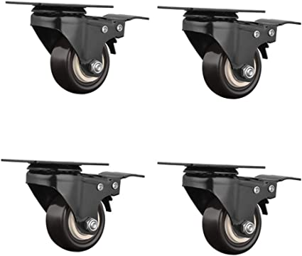 Plattenrollen Wheels Universal Swivel Chair Wheels Heavy Duty Directional Wheels Rotatable With Brakes Silent Wear Office Chair Accessories For Computer Chairs Pulley 4 Pieces Amazon De Kuche Haushalt