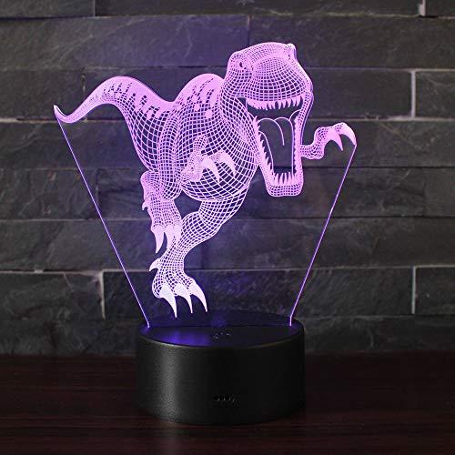 3D Illusion Nuit Lumière Win-Y LED Bureau Table Lampe 7 Couleur Tactile Lampe Maison Chambre Bureau Décor pour Enfants D'anniversaire De Noël Cadeau (Dinosaure A1)