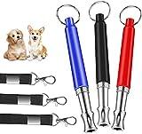 Sunshine smile Silbato profesional para perros, 3 unidades, ultrasónico, de alta frecuencia silencioso, silbato para perros con cordón, silbato para perros ajustable