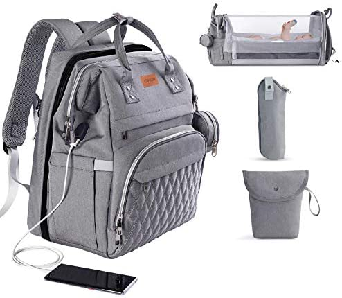 3 in 1 Diaper Bag with Changing Station ISMGN Large Diaper Bag Backpack for Boy Diaper Bag Organizer product image