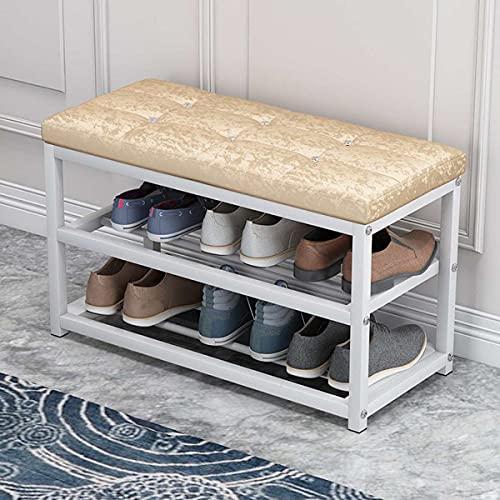 LIXUDECO Zapatos y taburete para cambiar zapatos y taburetes para el hogar...