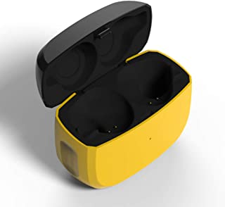 Replacement Charging Case Compatible with Jabra Elite 65t (Charger Case Only, Earbuds not Included), Earbuds Protective Substitute Cover with Built-in Battery (Yellow)