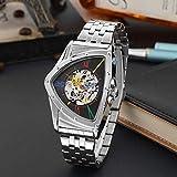 NO BRAND Reloj para Hombre Relojes mecánicos Triangulares Huecos...