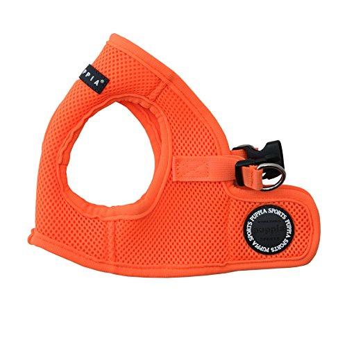 Puppia Authentic Neon Soft Vest Harness B, Orange, Large