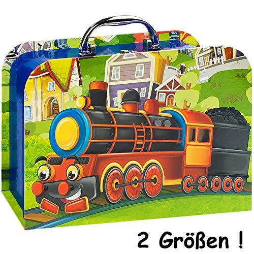 alles-meine.de GmbH Kinderkoffer / Koffer - GROß - lustige Eisenbahn - für Spielzeug und als Geldgeschenk - Mädchen & Jungen - Kinder & Erwachsene - Pappe Karton - Pappkoffer - P..