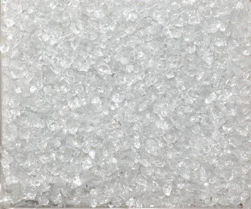 Eurosand GLASNUGGETS 2-4mm. Dekoglas. Kleine Glassteine, Glasgranulat. 1 kg. Natur -99