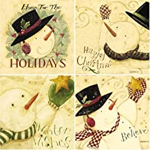 CoasterStone AS1305 Absorbent Coasters, 4-1/4-Inch,Winter Wishes, Set of 4