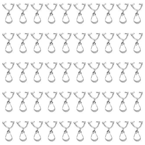 SALUTUYA Hebilla Colgante, Pinza de Conector Colgante, Suministros de artesanía duraderos para Collares Fabricación Artesanal de Bricolaje Fabricación de Joyas para Pulseras