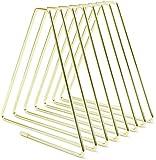 Vulcan Sujetalibros de metal, soporte para libros, ajustable, estantería para libros (cuadrícula clásica de 7 unidades), color dorado
