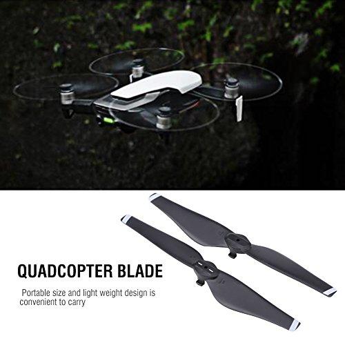 Dilwe 2 Paar RC-Drohnenpropeller, CW CCW-Schnellwechselpropeller Quadcopter-Blattzubehör Kompatibel mit Mavic Air Drone(Weißer Streifen)