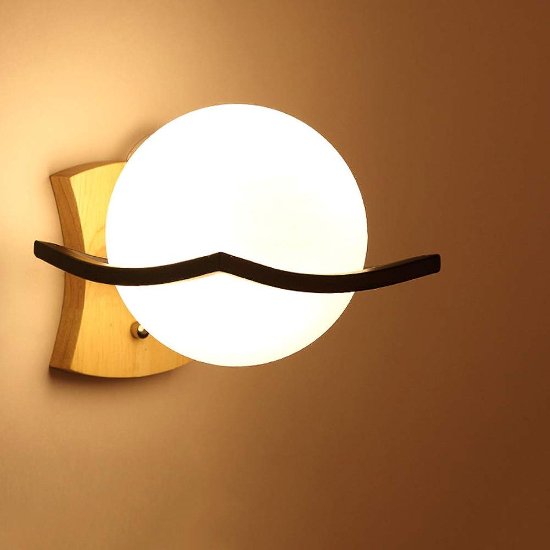 directo de fábrica Wapipey Wapipey Wapipey Minimalista moderno Creativo Nordic Lámpara de parojo de la cabecera de la personalidad LED de madera maciza Arte Luz de la parojo Linterna Dormitorio Sala de estar Pasillo Pasillo Hotel Aplique  la mejor oferta de tienda online