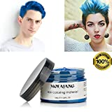 Blue Hair Dye Color Wax Temporary Hairstyle Cream 4.23 oz Pomades Natural Hairstyle Wax for Men...