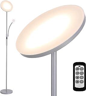 Lampadaire LED 25W, Lampadaire sur Pied Salon, avec Lampe de Lecture 7W, Infinite Dimmable, Contrôle Tactile & Télécommand...