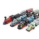Easy 99 Mini Simulation Steam Train Pull-Back Train Model Diecasts Locomotive, Set of 4