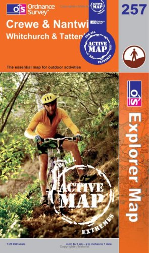 Crewe and Nantwich, Whitchurch and Tattenhall (OS Explorer Map Active): Sheet 257