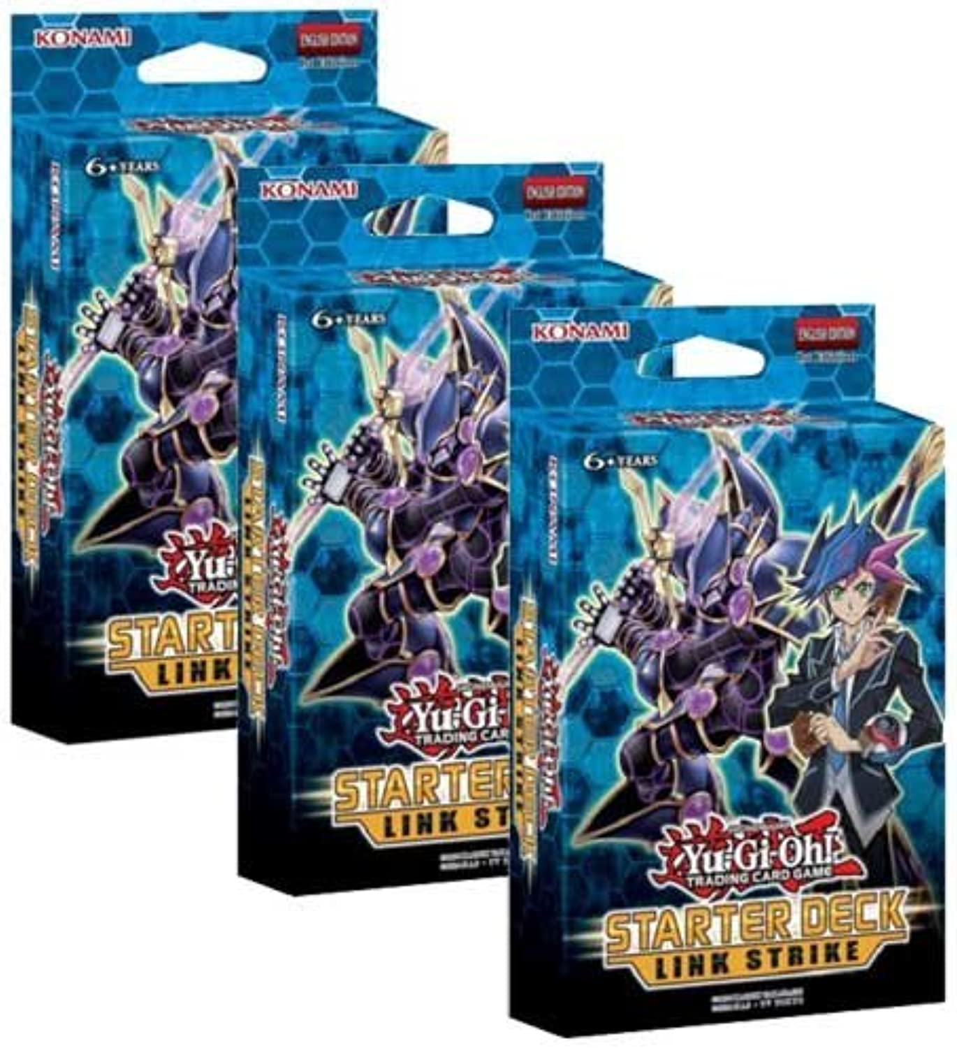 Yu-Gi-Oh  3 Decks - Yugioh Link Strike 2017 Starter Decks 1st Edition English - 43 Cards Each