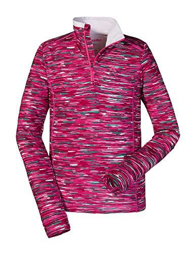 Schöffel Longsleeve Lugano3 Sweat-Shirt Garçon, Pink Yarrow, FR : XXS (Taille Fabricant : 128)