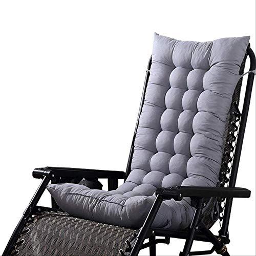 NoNo Solide Recliner schommelstoel mat sofa kussen met zachte rugleuning kussen voor stoel Tatami Mat Lounger Recliner kussen 48x125cm grijs