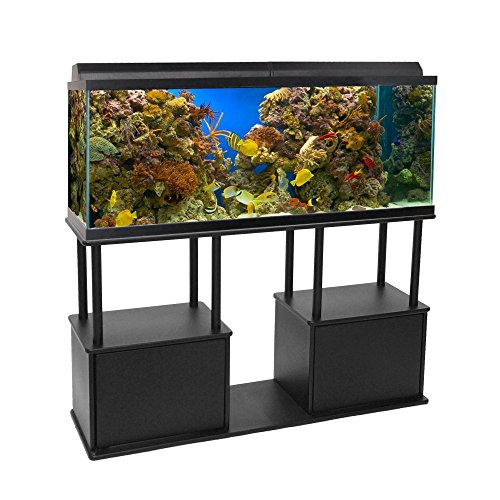 Aquatic Fundamentals Black Aquarium Stand with Shelf - for 55 Gallon Tanks, 14.5 IN