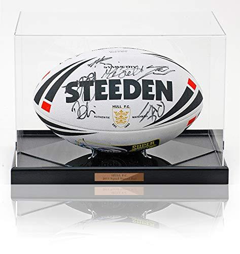 Hull F.C. Rugby Super League 2011 Squad Handsigniert Größe 5 Steeden Rugby Ball COA