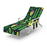 Funda para silla de playa, fundas para silla de piscina, toallas para silla de playa, tumbonas de patio con bolsillo lateral para tumbonas reclinables al aire libre