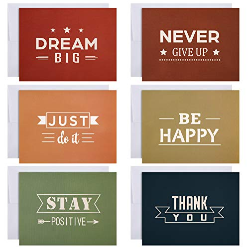 Set of 36 Fall Greeting Card with Inspirational Words Motivational Note Card with Envelopes Blank on the Inside Card