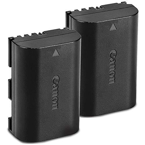 Canon Battery Pack LP-E6N 2-Pack for Canon EOS Digital SLR 60D, 70D, 80D, 5DMKII, MKIII, Mark IV, 5DS 5DS R, 6D, 6DMKII, 7D, 7DMKII, EOS R,