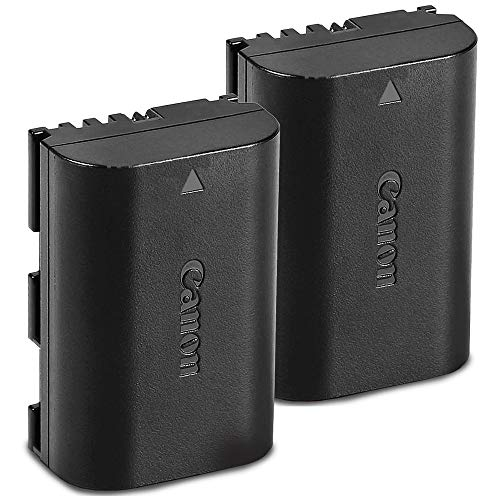 Canon Battery Pack LP-E6N 2-Pack for Canon EOS Digital SLR 60D, 70D, 80D, 5DMKII, MKIII, Mark IV, 5DS 5DS R, 6D, 6DMKII, 7D, 7DMKII, EOS R,