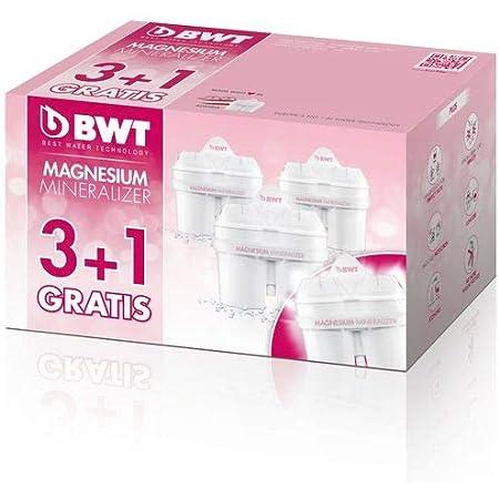 Cartouche filtrante, enrichie au magnésium, compatible Brita Maxtra, pack 3 + 1