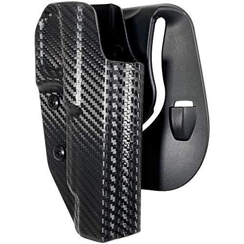 Black Scorpion Outdoor Gear OWB Kydex Paddle Holster fits Walther PPQ Q5 Match Polymer Frame   Outside The Waistband Concealed Carry Holster (Carbon Fiber)