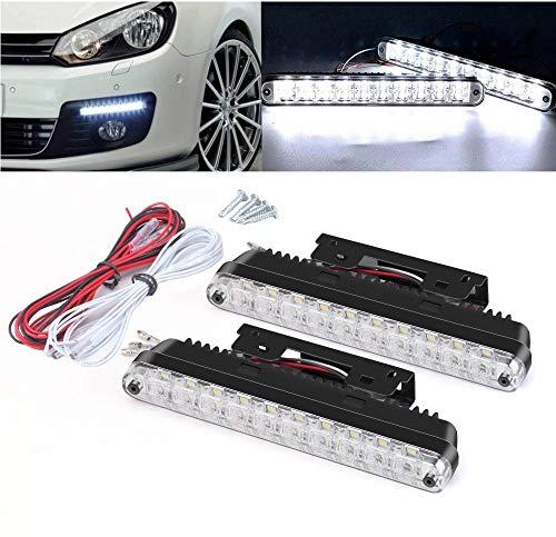 Motoeye K3 Tagfahrlicht LED mit Dimmfunktion Position Licht 20 LEDs 12 V E-Prüfzeichen